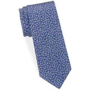 Versace Blue Men's Letters Neck Tie Silk Italy